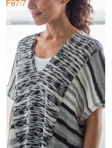 Modèle Poncho Femme Laine Katia coton Bora Bora