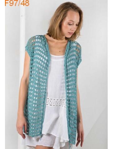 Modèle Veste Femme Laine Katia coton Tencel Cotton