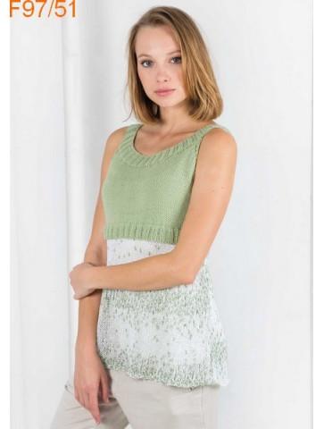 Modèle Tunique Femme Laine Katia coton Malibu et Cotton 100%