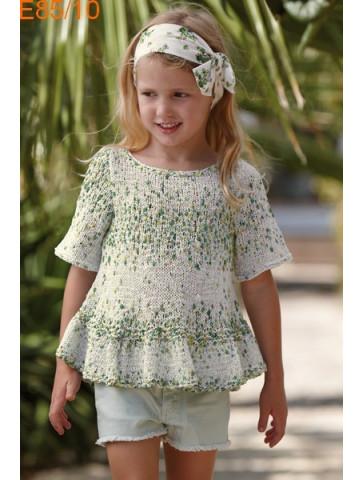 Modèle Tunique Fille Laine Katia coton Malibu Plus