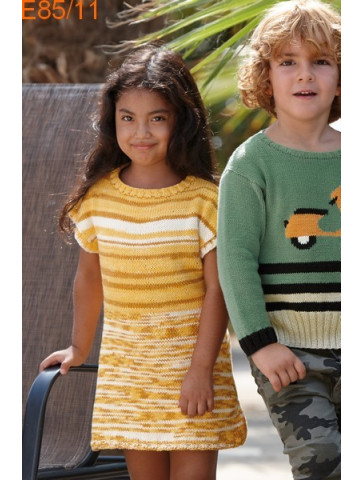 Modèle Robe Fille Laine Katia coton Bora Bora