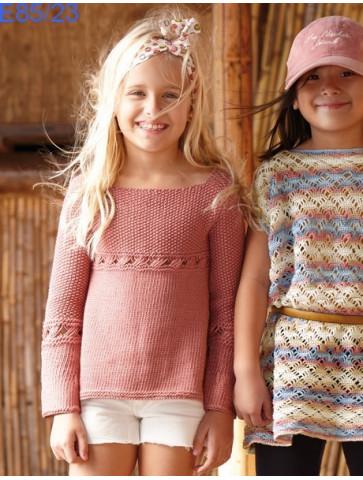 Modèle Tunique Fille Laine Katia coton Recycled
