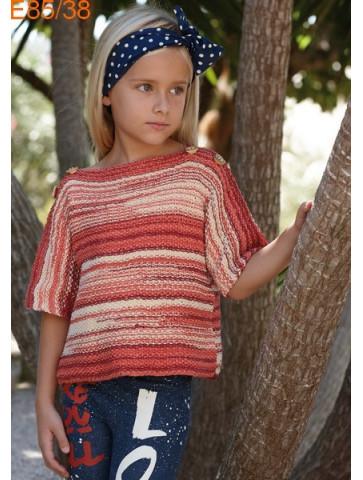 Modèle Tunique Fille Laine Katia coton Bora Bora