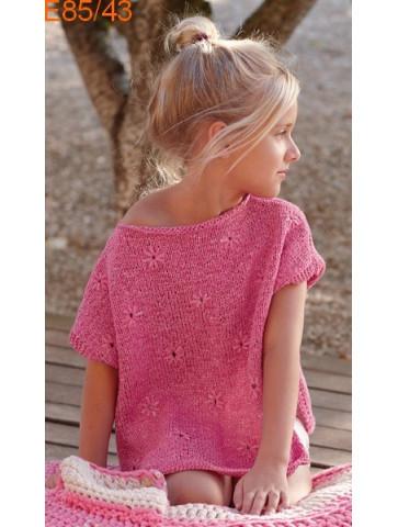 Modèle Tunique Fille Laine Katia coton Mini Washi