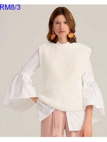 Modèle Top Femme Laine Rico Design Fashion Cotton Ribbon Chunky
