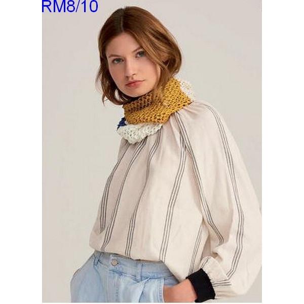 Modèle Snood Femme Laine Rico Design Fashion Cotton Ribbon Chunky