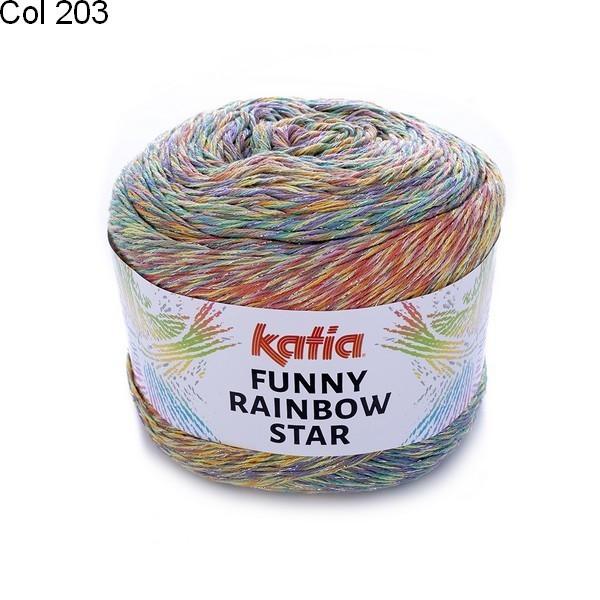 Laine Katia Coton Funny Rainbow Star