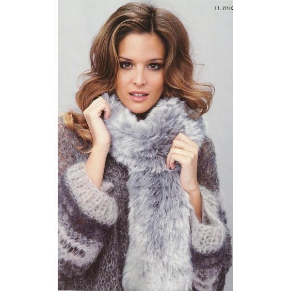 86ebc88e348c Modèle à tricoter gratuit Echarpe fourrure longue Laine Lanas Stop Lynx