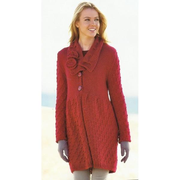 modele manteau tricot femme