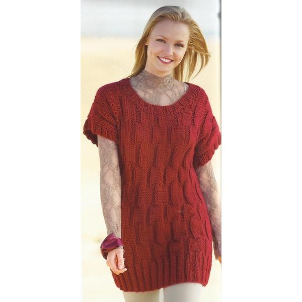 ed19e3dc12f Modèle à tricoter gratuit Robe Femme laine Katia Peru