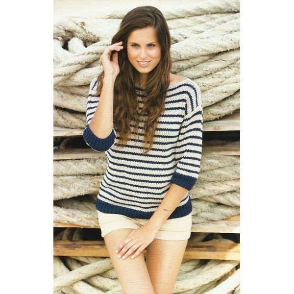 Modèle à Tricoter Gratuit Pull Femme Laine Katia Coton Alabama