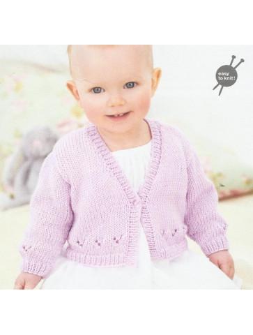 Modèle veste manches longues Baby Soft Rico Design