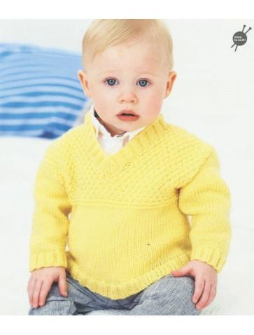 Modèle pull garçon Rico Design Baby Soft