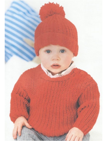 Modèle pull fantaisie garçon Baby Soft Rico Design