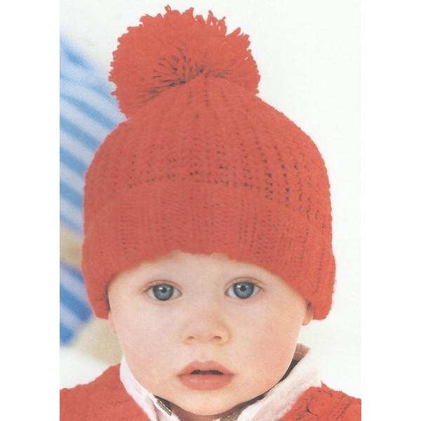8e1d541c52da Modèle gratuit à tricoter Bonnet Laine Rico Design Rico Baby So Soft