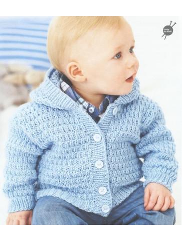 Modèle veste à capuche Rico Design Baby Soft