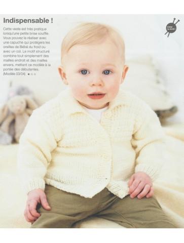 Modèle veste à col Rico design Baby so soft