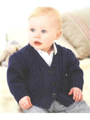 Modèle veste torsade layette Rico Design Baby Soft