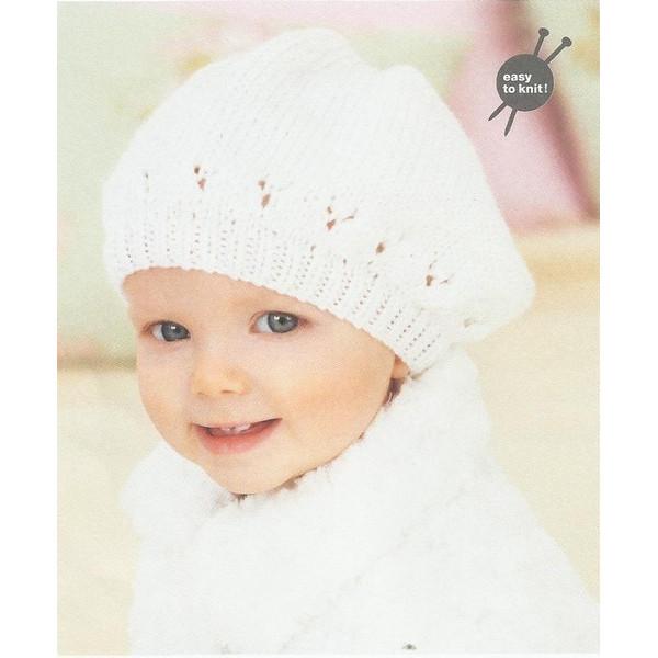 fa07d2a212a9 Modèle à tricoter gratuit Béret Rico Design Rico Baby so Soft