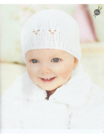 Modèle bonnet ajouré Rico Design Baby Soft