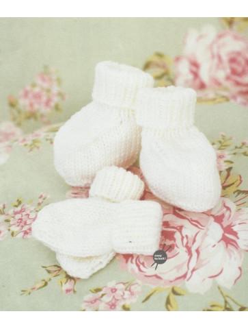Modèle chaussons et moufles rico design baby so soft