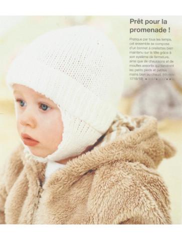 Modèle bonnet oreillettes baby soft rico design layette