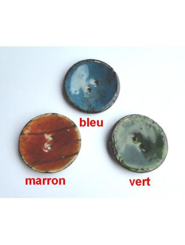 Bouton reflet couleur nature 4cm