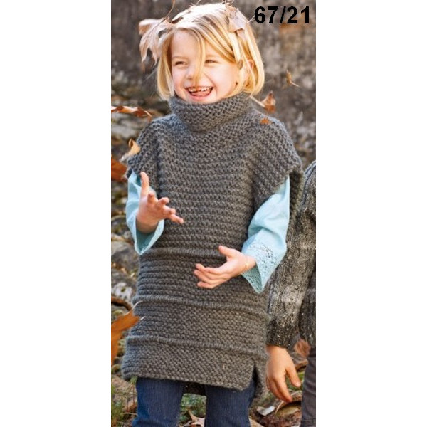 modele tricot robe petite fille