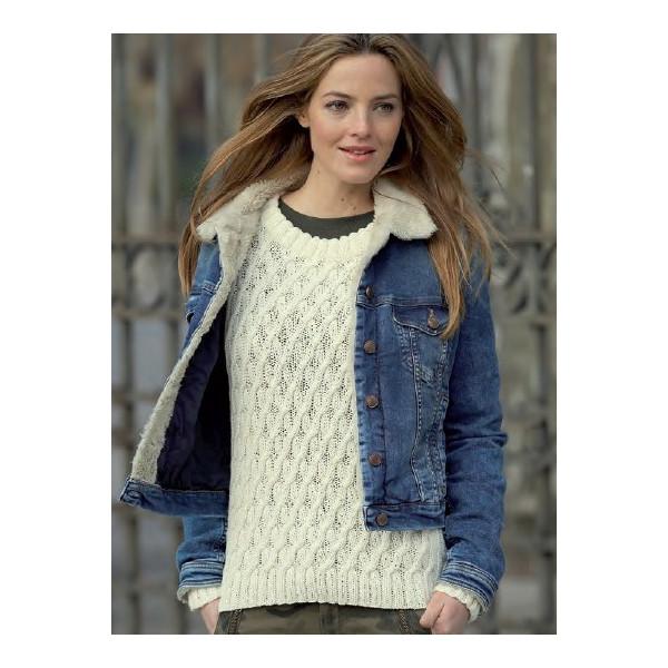 modele pull en laine a tricoter femme