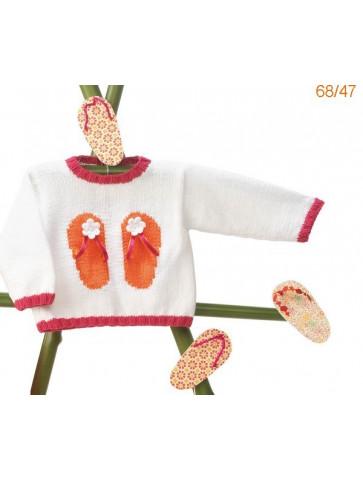 Modèle Pull Bébé Laine Katia Cotton Stretch