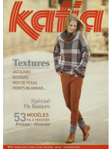 Catalogue Katia Textures Special Fils Basiques n°9
