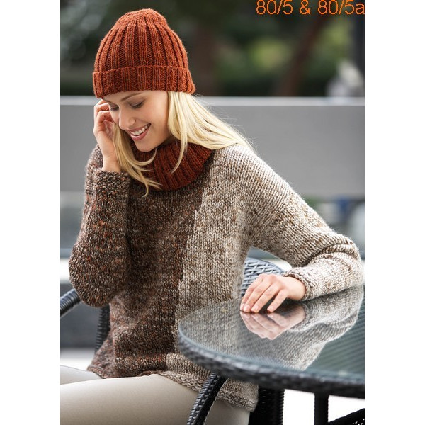 Modèle Bonnet Femme Laine Katia Merino tweed
