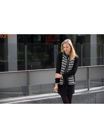Modèle Gilet Femme Laine Katia Merino tweed et Peru ou Norway