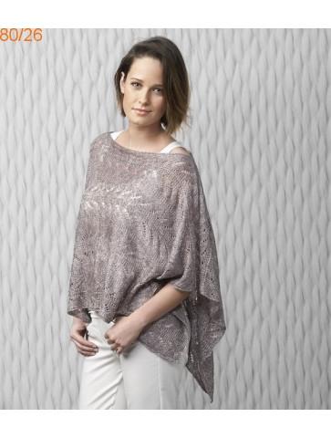 Modèle Poncho Femme Laine Katia Air lux