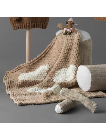 Modèle Couverture Bébé Laine Katia Bambi