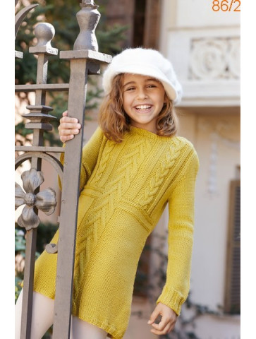 Modèle Robe Fille Laine Katia Basic Merino