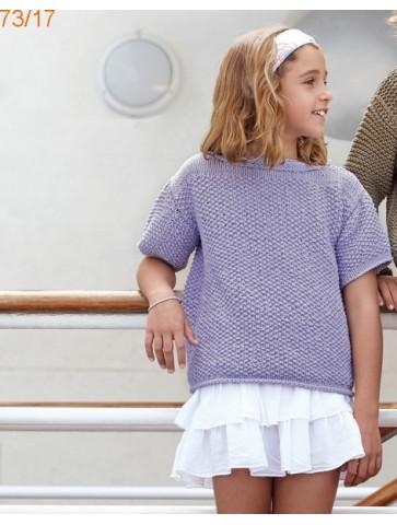 Modèle Tunique Fille Laine Katia coton Big Alabama