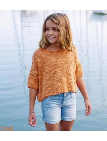 Modèle Tunique Fille Laine Katia coton Créta