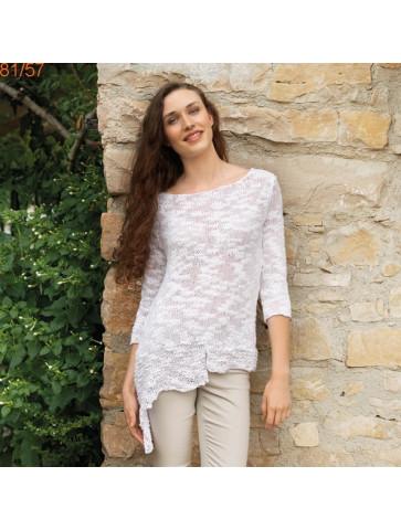 Modèle Pull femme Laine Katia coton Créta