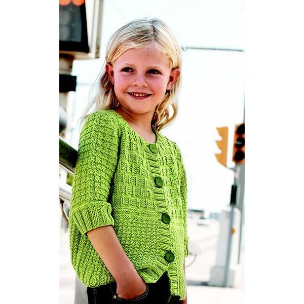 Modèle à Tricoter Gratuit Gilet Enfant Laine Katia Coton Alabama